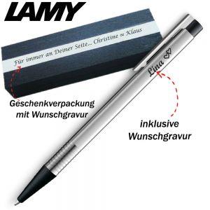 LAMY logo silber / schwarz Kugelschreiber 205