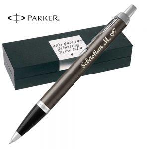 Parker - IM Core Dark Espresso C.C. Kugelschreiber mit Gravur Mine Blau