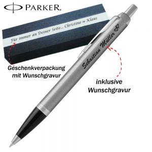 Parker IM Core Stainless Steel CT Kugelschreiber mit Gravur