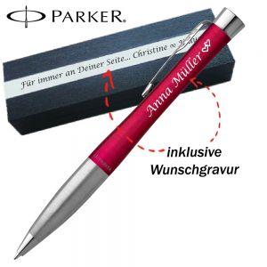 Parker Urban Kugelschreiber mit Gravur Core Vibrant Magenta CT