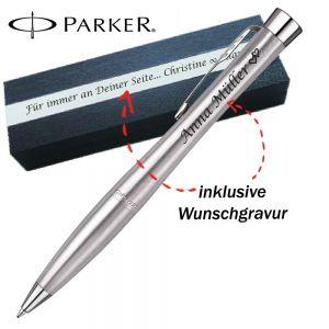 Parker Urban Core Kugelschreiber mit Gravur Metro Metallic CT