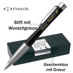 Parker Urban Core Muted Black CT Kugelschreiber mit Gravur