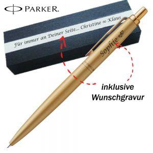 Parker Gold Jotter XL Monochrome BT Kugelschreiber mit Gravur