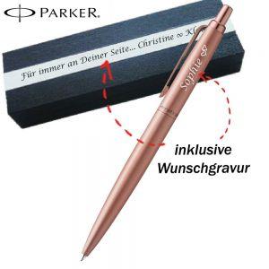 Parker Jotter XL Monochrome Rosegold GT Kugelschreiber mit Gravur