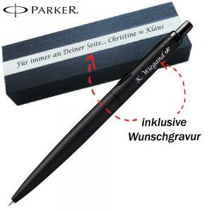 Parker Premium Black Jotter XL Monochrome Kugelschreiber mit Gravur