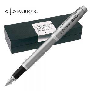 Parker IM Core Stainless Steel CT Füllfederhalter mit Gravur